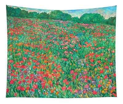 Poppy View Tapestry