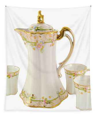 Porcelain Pitcher And Cups Tapestry