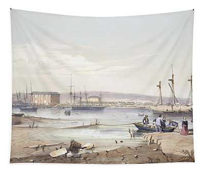 Port Adelaide From South Australia Tapestry