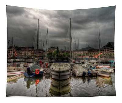 Port At Como Lake Tapestry