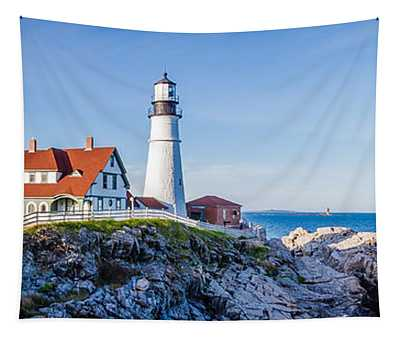 Portland Head Light House Cape Elizabeth Maine Tapestry