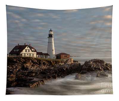 Portland Head Light Tapestry