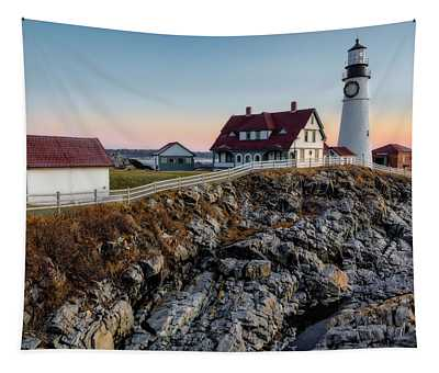 Portland Lighthouse Dawn Tapestry