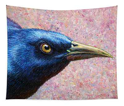Portrait Of A Grackle Tapestry
