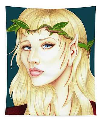 Portrait Of A She Elf Tapestry