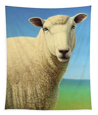Portrait Of A Sheep Tapestry