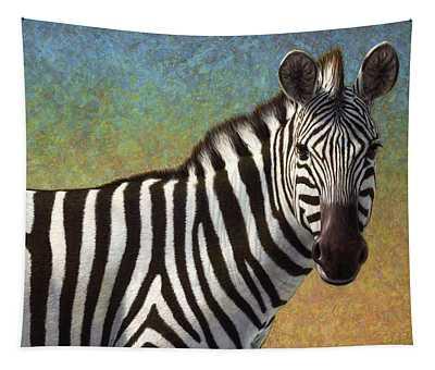 Portrait Of A Zebra Tapestry