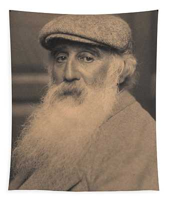 Portrait Of Camille Pissarro 1830-1903 Bw Photo Tapestry