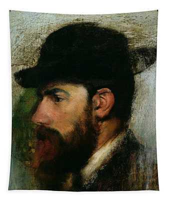Portrait Of Henri Rouart Tapestry