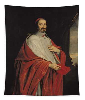 Portrait Of Jules Mazarin Tapestry