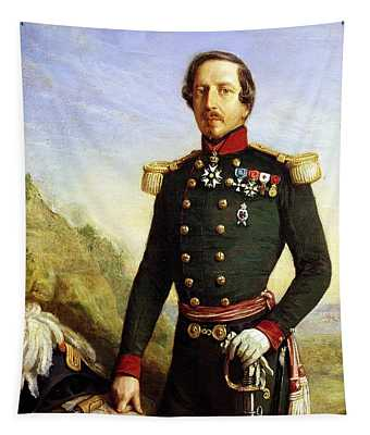 Portrait Of Napoleon IIi 1808-73 1852 Oil On Canvas Detail Tapestry