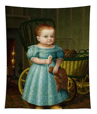 Portrait Of Sally Puffer Sanderson Tapestry