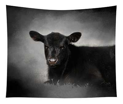 Portrait Of The Black Angus Calf Tapestry
