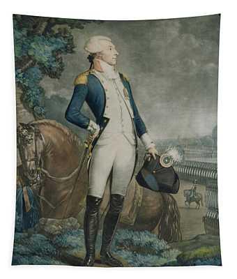 Portrait Of The Marquis De La Fayette Tapestry