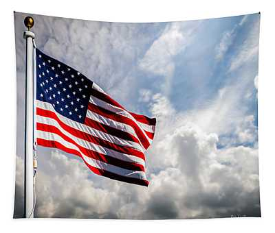 Portrait Of The United States Of America Flag Tapestry
