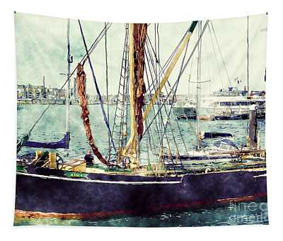 Portsmouth Harbour Boats Tapestry