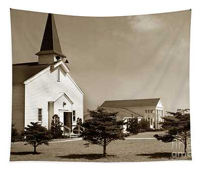 Post Chapel And Red Cross Building Fort Ord Army Base California 1950 Tapestry