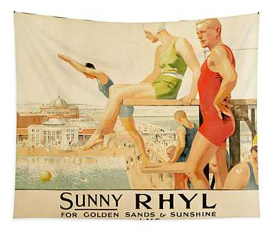 Poster Advertising Sunny Rhyl  Tapestry