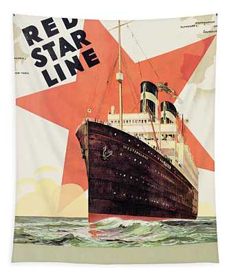 Poster Advertising The Red Star Line Tapestry