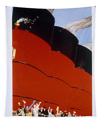 Poster Advertising The Rms Queen Mary Tapestry