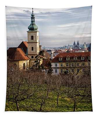 Prague View From The Gardens Tapestry
