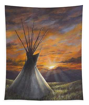Prairie Sunset Tapestry