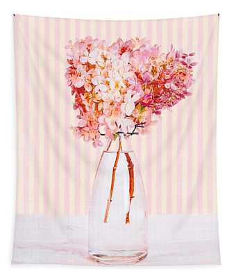 Pretty In Pink Flowers Tapestry