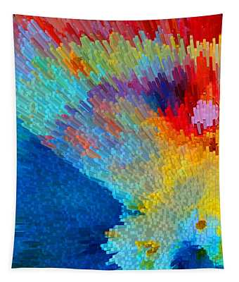Primary Joy - Abstract Art By Sharon Cummings Tapestry