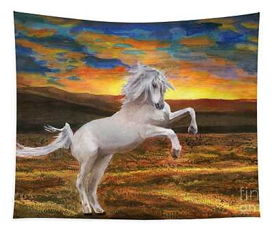 Prince Of The Fiery Plains Tapestry