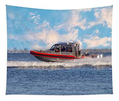 Tapestry featuring the photograph Protecting Our Waters - Coast Guard by Kim Hojnacki