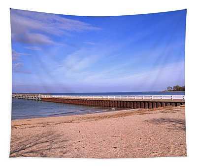 Prybil Beach Pier Tapestry