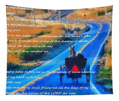 Psalm 23 Country Roads Tapestry