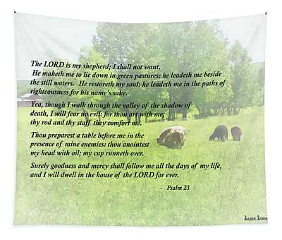 Psalm 23 The Lord Is My Shepherd Tapestry