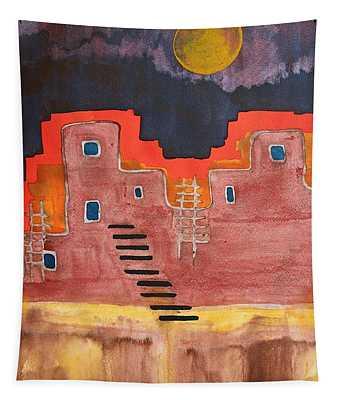 Pueblito Original Painting Tapestry