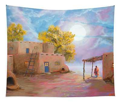 Pueblo De Las Lunas Tapestry