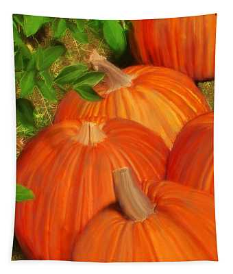Pumpkins Pumpkins Everywhere Tapestry