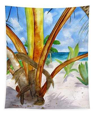 Punta Cana Beach Palm Tapestry