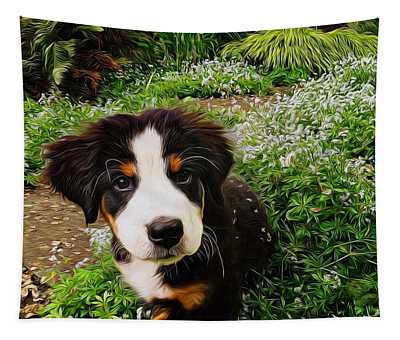 Puppy Art - Little Lily Tapestry
