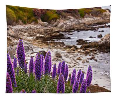 Purple California Coastline Tapestry