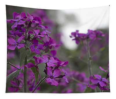 Purple Flowers Tapestry