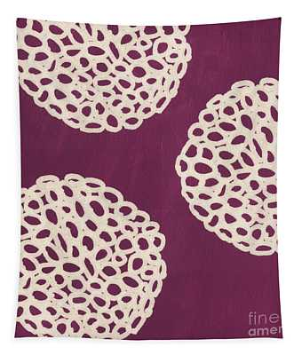 Purple Garden Bloom Tapestry