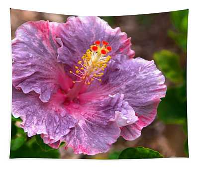 Purple Hibiscus Tapestry
