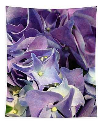 Purple Hydrangeas Tapestry