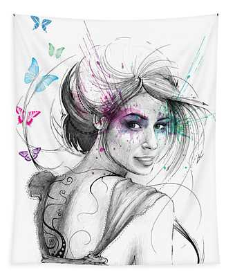 Queen Of Butterflies Tapestry
