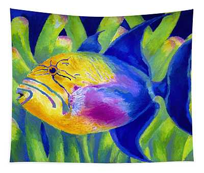 Queen Triggerfish Tapestry