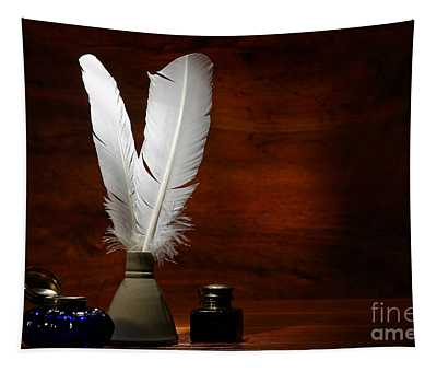 Quills And Inkwells Tapestry