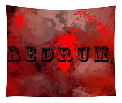 R E D R U M - Featured In Visions Of The Night Group Tapestry