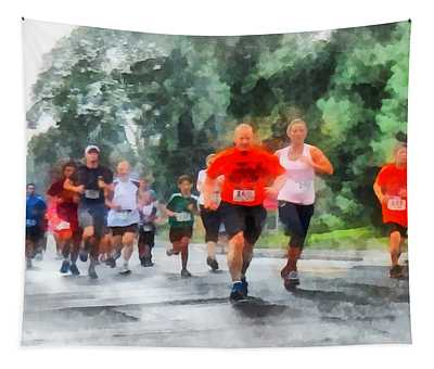 Racing In The Rain Tapestry