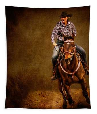 Racing To Win Tapestry