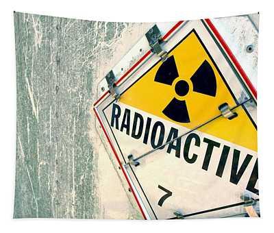 Radioactive Warning Sign Tapestry